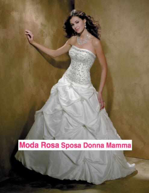 Abito da sposa - Wedding dress - Taffeta - Ricamato Strass e Perline - 00150