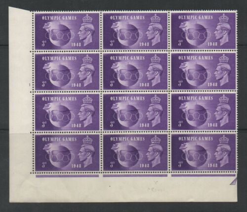 GVI - 1948 Olympic Games. QCom15a + 15c. Both Crown flaw + Hooked 3 flaw. MNH.