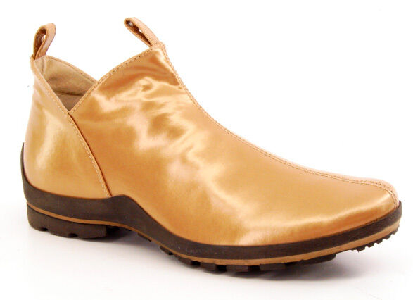 Nuevo Mujer Tobillo Plana de Charol Golo Tire de Plana Vestir Botas Zapato M 98cb7b