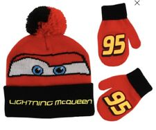Cars Lightning McQueen Disney Baby Winter Hat /& Mittens 2 Piece Set Age 1-4 Year