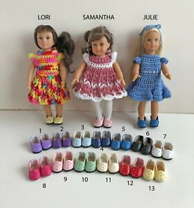 Shoes-for-6-034-Mini-American-Girl-Doll-Julie-Lori-Choose-from-13-Colors-Slip-On-AG
