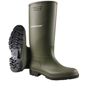 Dunlop - Stivali di gomma da Uomo con Gambale alto colore Verde  31731730ff7