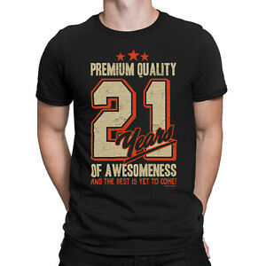 Image Is Loading Mens BIRTHDAY T Shirt 21 Years Of AWESOMENESS