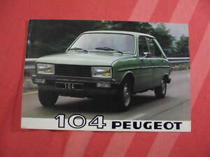 Peugeot 104 brochure catalog 1980 Finland market