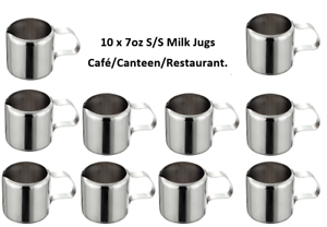 Stainless Steel 7oz Milk Jugs Cafe Restaurant//Canteen Work// Hospitality