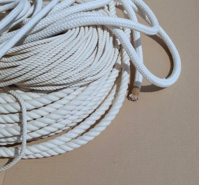 Kordel Baumwollseil geflochten rund Ø 3mm-12mm Band Seil Schnur ab 0,80€//m