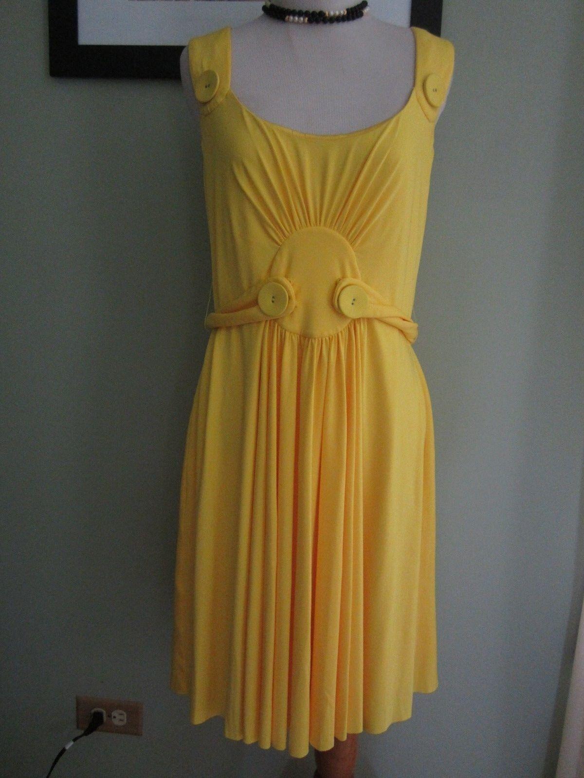 Lyndia by Lyndia Procanik Yellow Sleeveless Summer Dress Size M