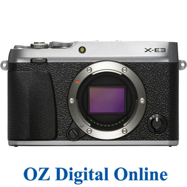 NEW Fujifilm X-E3 Body Silver Mirrorless 24.3MP 4K Wifi Camera 1 Yr Au Wty