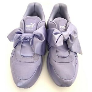reputable site d1d09 74d97 Details about Puma Rihanna Fenty Purple Satin Bow Sneaker Shoe Nordstrom  Authentic 8.5