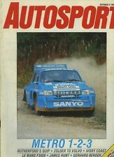 Autosport Oct 2nd 1986 Le Man F3000 & Ivory Coast Rally