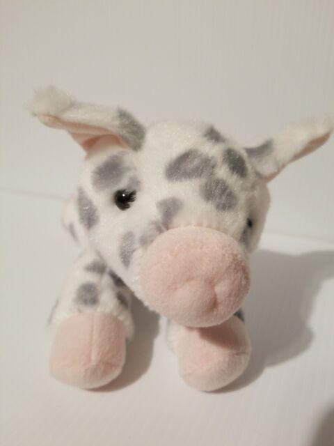 "Aurora Gray White Pink Spotted PIGLET PIG Flopsie Stuffed Plush 9"" NWT"