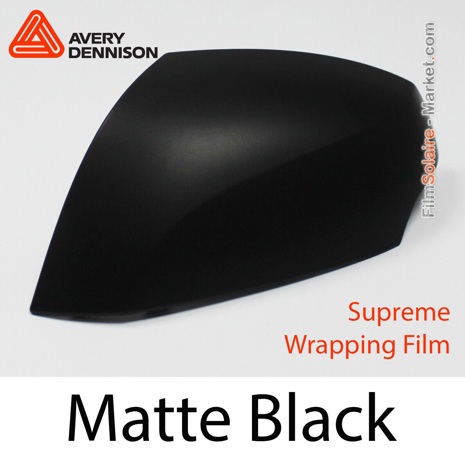 Matt Schwarz, Avery Dennison Supreme Wrapping Folie, Total Abdeckung As1430001