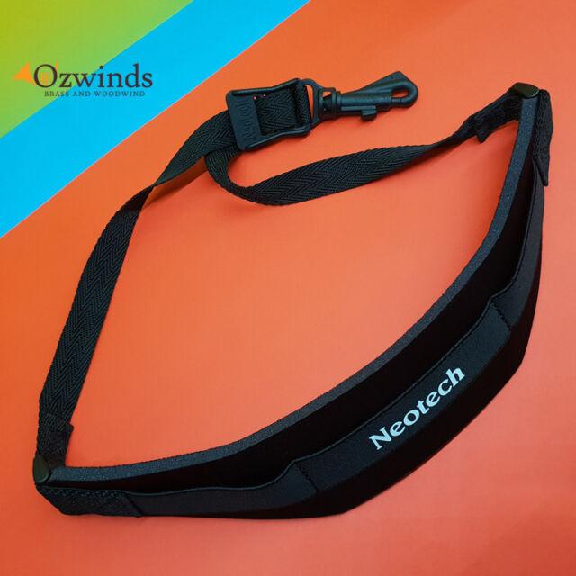 Neotech Soft Black Sax Strap Regular Size with a Swivel Hook