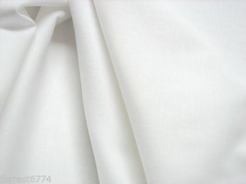 Rein Ägyptisch Weich Hell Weiß Baumwolle P Mtr Minimum 3 Meter