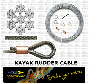 Details about Kayak rudder cable 1/16 Stainless Steel 316 wire replacement  spare parts DIY kit