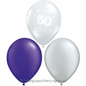 Image Is Loading 30 50th Birthday Helium Or Air Balloons Clear