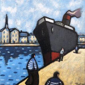Tableau-Bateau-Paquebot-Port-Tourrier