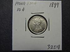 HONG KONG 1897 QV  TEN / 10 CENTS, SCARCE GRADE, GEM UNC !