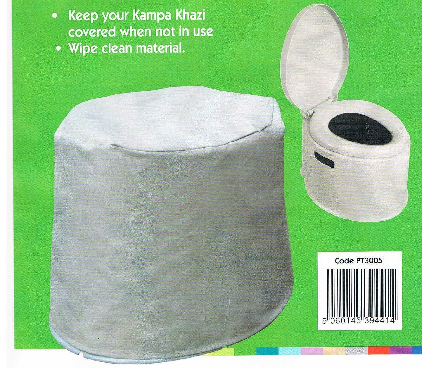 KHAZI PORTABLE TOILET WITH COVER for camping caravan chemical tent Kampa