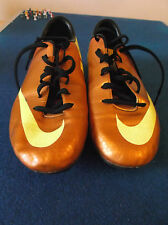 Nike Mercurial Football Boots Size 5 Gold & Yellow with Screw in Studs.
