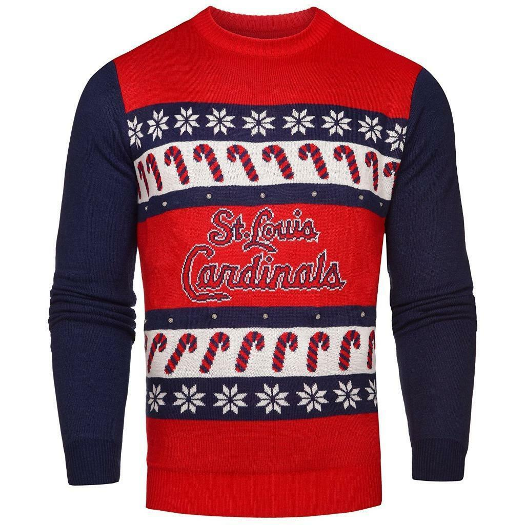 Neu Lizenziert st Louis Cardinals Ugly Weihnachten Weihnachten Weihnachten Leuchtende Pullover GR. M 4faddb