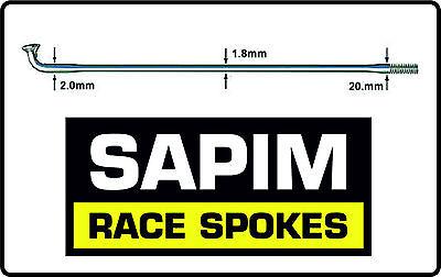 New 10 x Sapim Race Double Butted Bike Wheel Spokes Silver Range Of Sizes