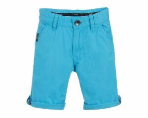 Sale-Hugo-Boss-Kids-J24524-75G-Cotton-Boys-Chino-Shorts-Blue