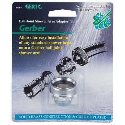 Chrome-Plated Brass Lever Style Whedon Products AF110C Shower Arm Diverter