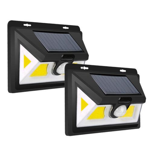 COB LED Solarleuchte Bewegungsmelder Wandleuchte Solarstrahler Außen Gartenlampe