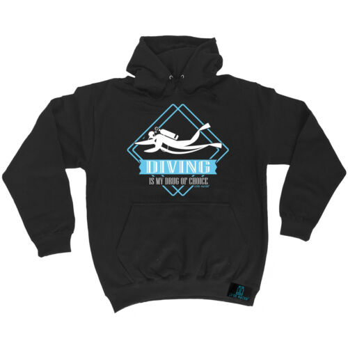 Scuba Diving Drug Of Choice Open Water HOODIE birthday gift scuba diver diving