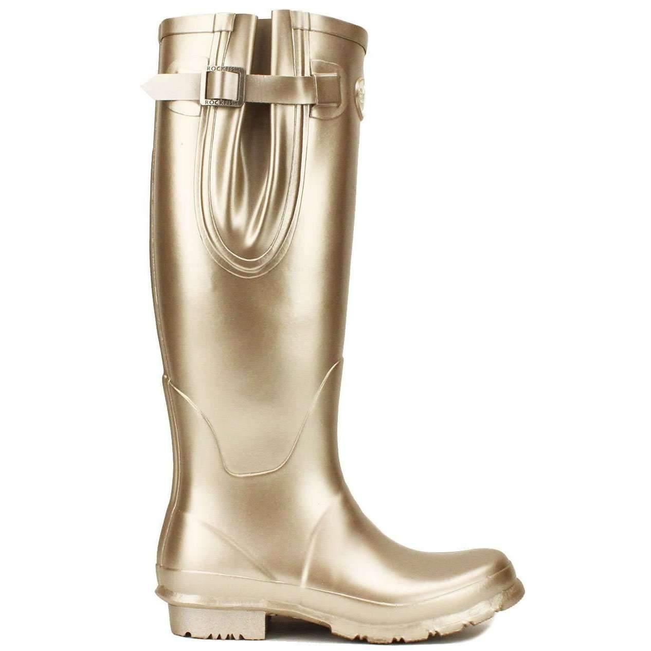 Stivali in gomma in Rockfish DONNA IMPERMEABILE Outdoor CHAMPAGNE regolabile in gomma larghezza d0e591