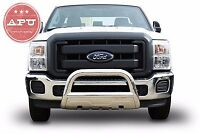 Apu Fits 2004-15 Ford F150 3.5 Oval Bull Bar Stainless With Led Light Bar