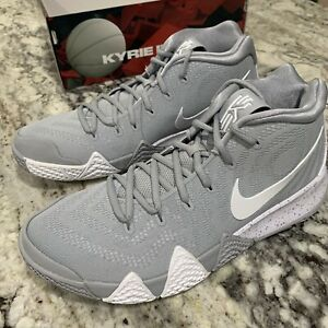 timeless design c86bc 902f9 Details about Nike Kyrie 4 TB Mens AV2296-002 Wolf Grey White Basketball  Shoes Size 14