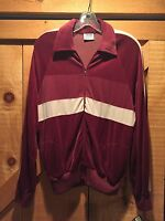Vintage Bronson Of California Zip Velour Style Track Jacket Sz Large