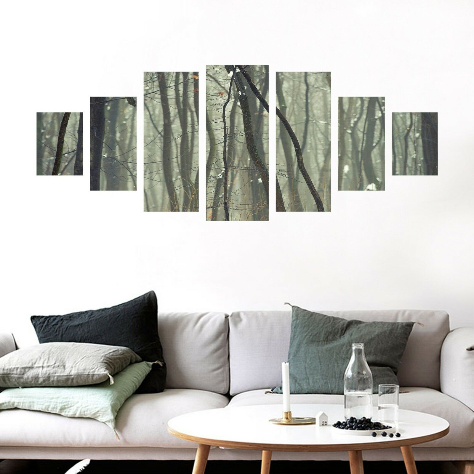 3D Forest Trunk View 101 Unframed Print Wall Paper Deco Indoor AJ Summer