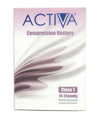 Activa Compression Hosiery,Class1,Knee Length,Closed Toe,Black,choose size