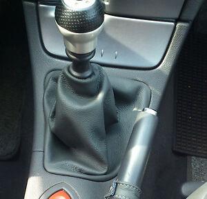 Cuffia leva freno Opel Meriva vera pelle antracite