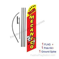 Taller Mecanico 15ft Feather Banner Swooper Flag Kit With Pole+spike