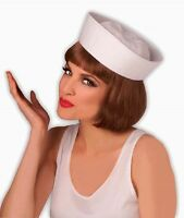 Sailor Hat Popeye White Navy Fancy Dress Up Halloween Adult Costume Accessory
