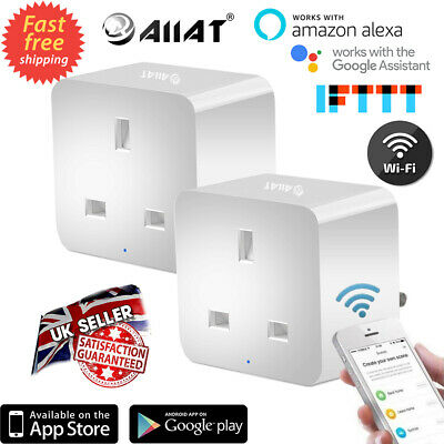 Mini Alexa Plug Socket Remote Control Your Home Anywhere and Anytime Google Assistant and IFTTT WiFi Timer Plug Compatible with Alexa 1 No Hub Required AIIAT UK Plug 13A Smart Plug