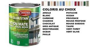 Lasure De Couleur Opaque Pour Bois Solid Color Stain 2.5l Owatrol Coloris Choix