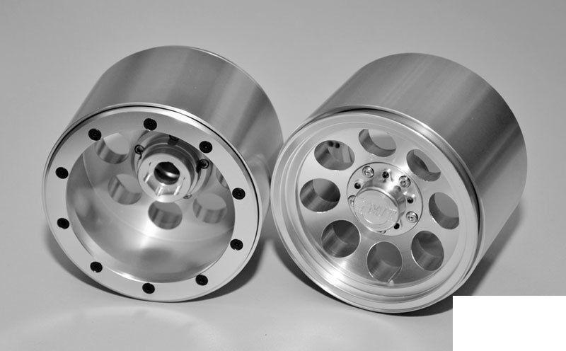 Mickey Thompson Clásico III Plata beadlock rueda Traxas Revo T-maxx 3.3 Z-W0134