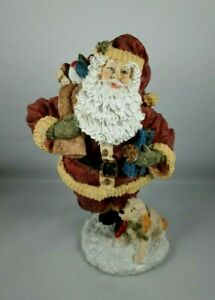 """VINTAGE THC 1994 ~ SANTA'S COLLECTION ~ 7"""" HAND CRAFTED RESIN SANTA"""