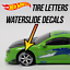 Hot-Wheels-Tire-Letters-Custom-WaterSlide-White-Toner-Decals thumbnail 1