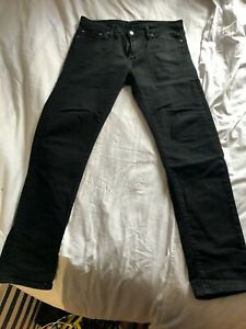 Levis-510-Skinny-Black-Jeans-Men-s-32-32-USED