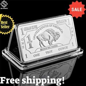 1-Oz-One-Troy-Ounce-American-Buffalo-German-Silver-Bullion-Bar-Coins-Collection
