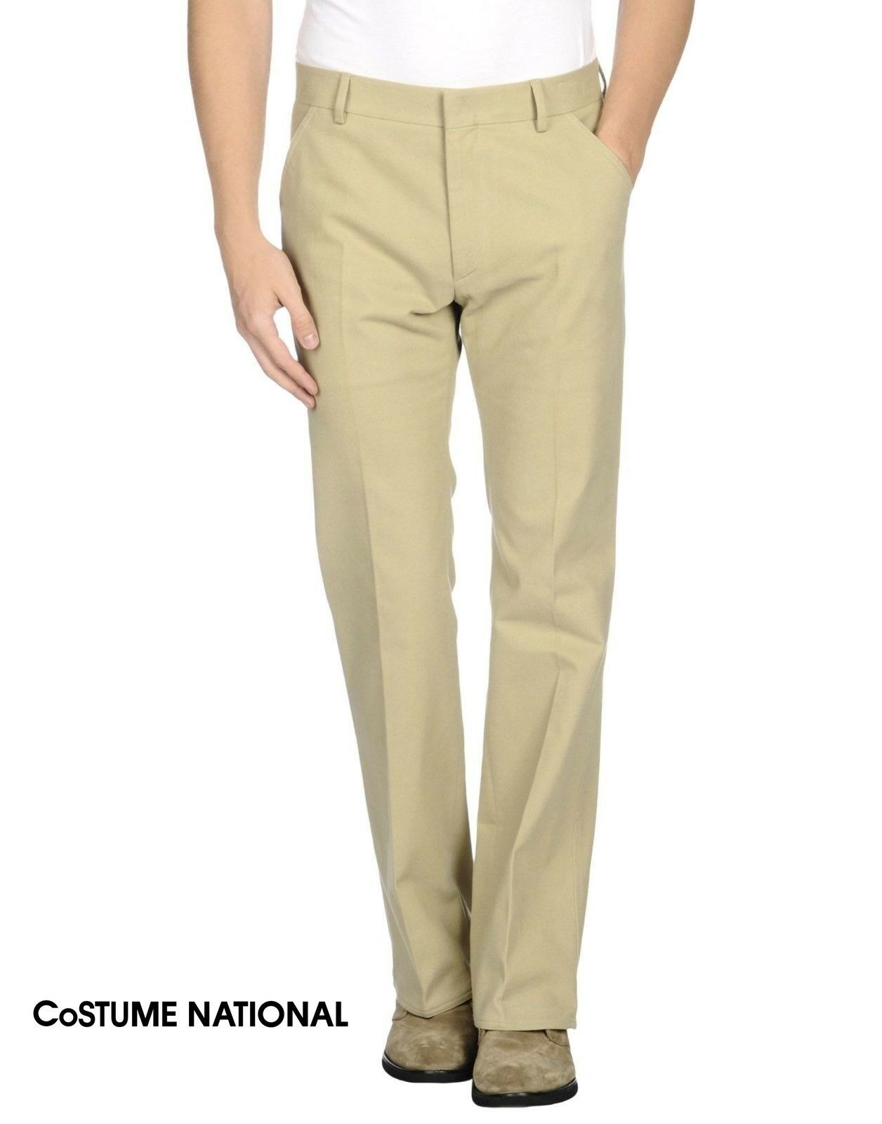 Costume National Homme Light Beige Trousers Pants - W34 L32