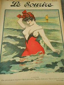 GM14-A-Boulogne-Venus-sortant-de-Londres-Girl-nice-Humour-Print-1907