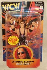 WCW San Francisco Toymakers Bret Hart With Atomic Elbow Action MOC OSFTM