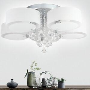 Led e27 deckenleuchte kristall deckenlampe fernbedienung for Deckenleuchte wohnzimmer e27